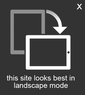 Image: This site looks best in landscape mode